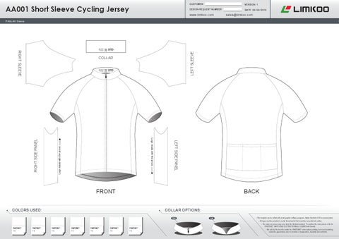 aa short sleeve cycling jersey template catalog 1 by limkoo