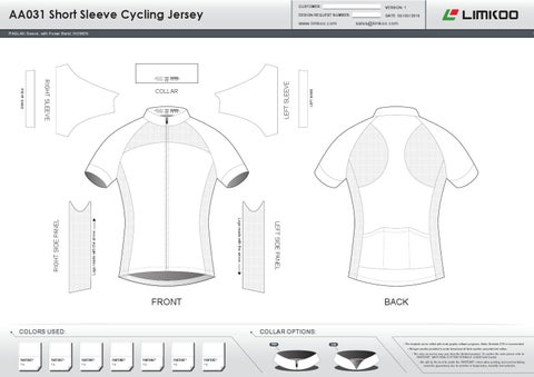 Cycling apparel design templates by limkoo limited issuu aa short sleeve cycling jerseyoptional 2 pronofoot35fo Image collections