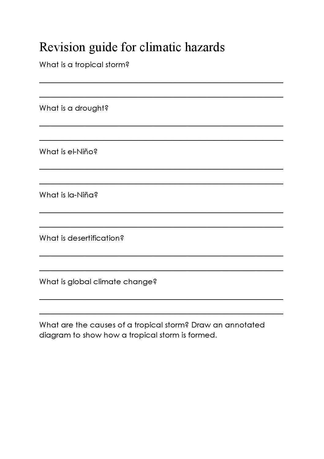 Geog Climatic Hazards Qs By Isaac Newton Academy Issuu What Is Annotated Diagram