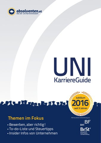 absolventen.at Uni-KarriereGuide 2016 by Business Cluster Network ...