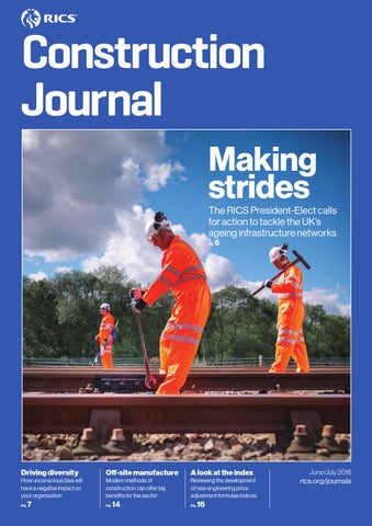 Construction Journal June July 2016 By Rics Issuu