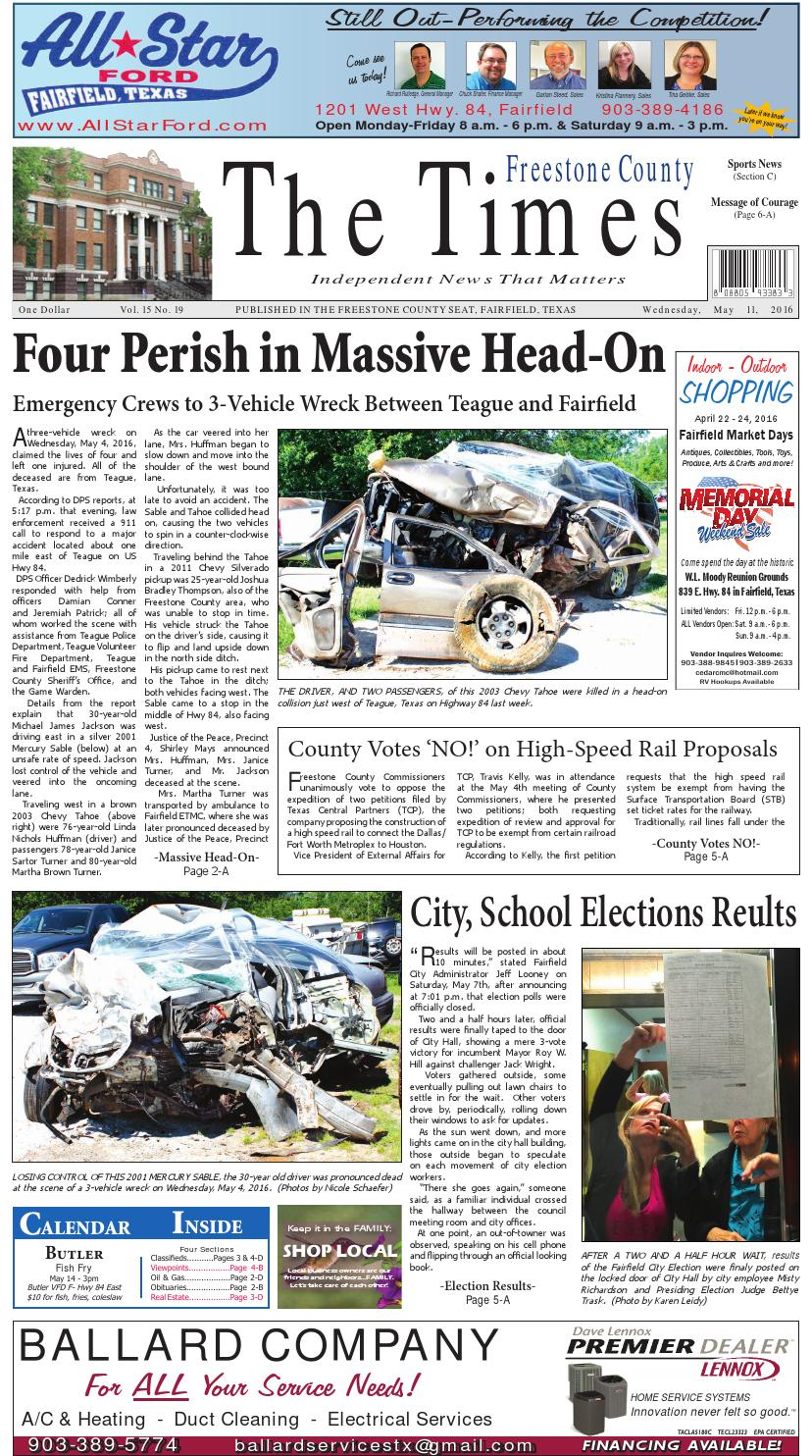 Freestonecountytimes051116 by Karen Leidy - issuu