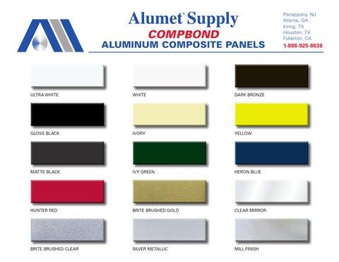 Alumet Compbond Aluminum Composite Material Panels Color