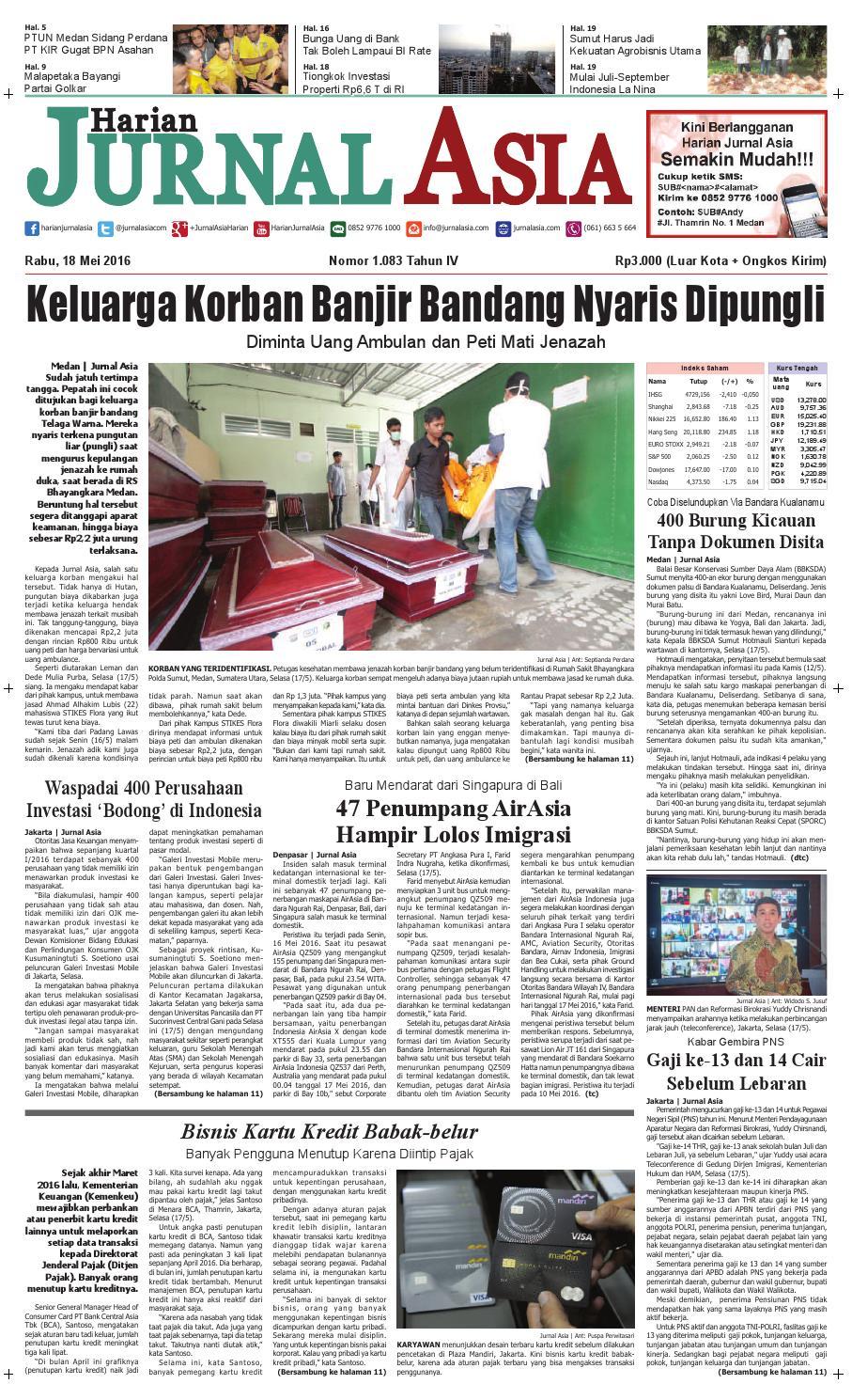 Harian Jurnal Asia Edisi Rabu 18 Mei 2016 By Produk Ukm Bumn Kain Batik Eksklusif Lasem Manuk Medan Issuu
