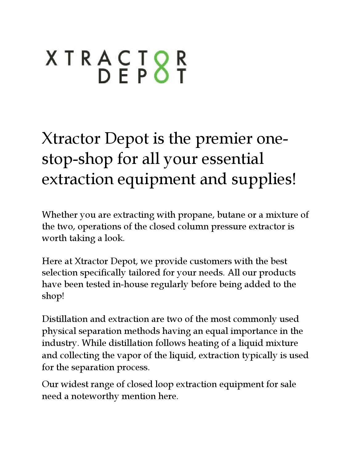 Closed loop extraction equipment for sale by Andrew Yoon - issuu