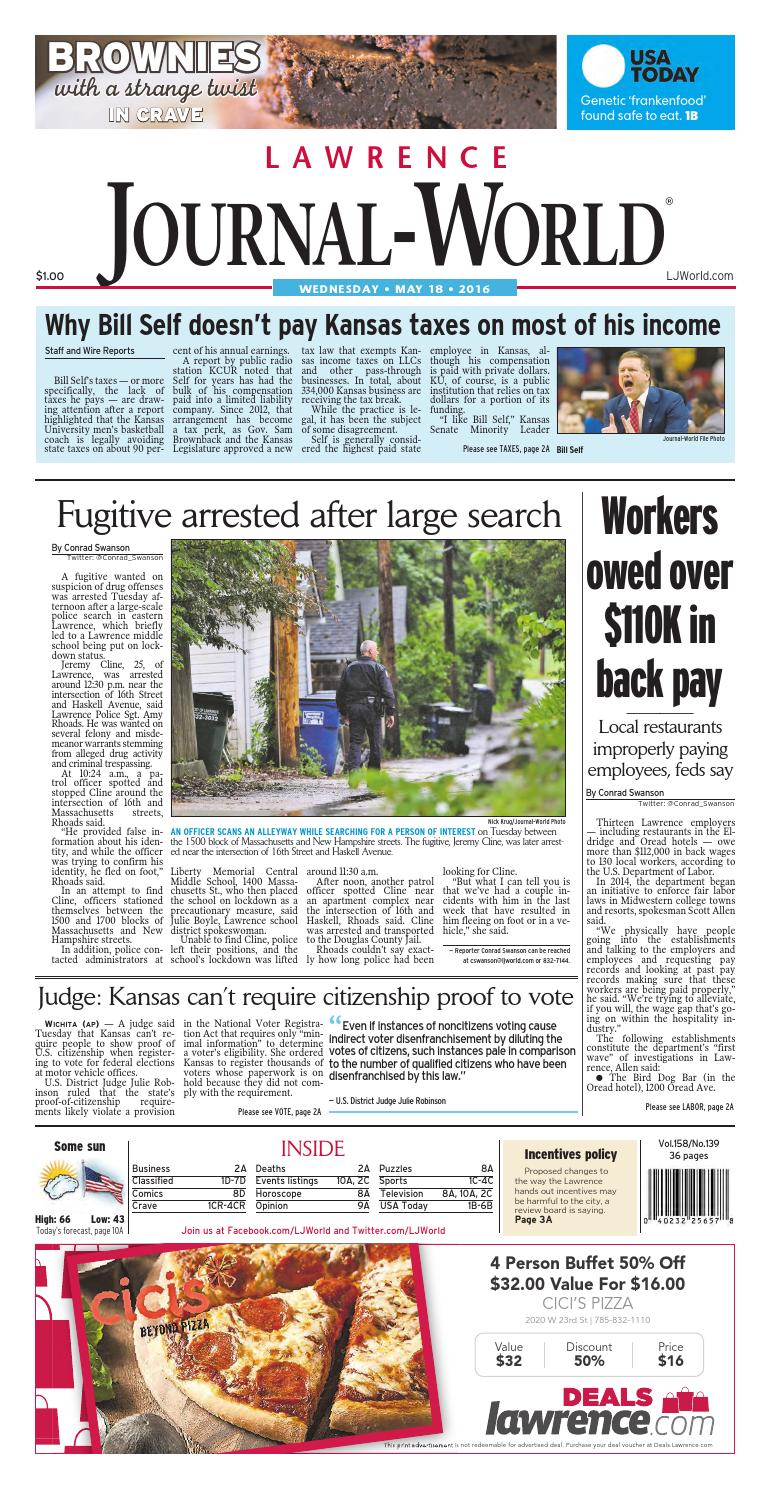 0e21e13bc72 Lawrence Journal-World 05-18-2016 by Lawrence Journal-World - issuu