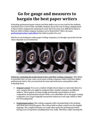 Essay writers for hire in the usa