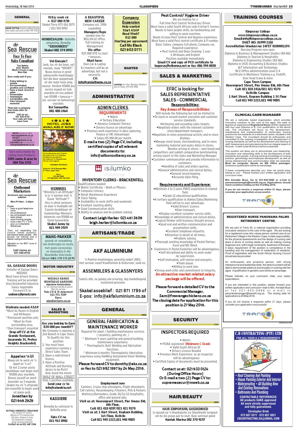 Tygerburger Brackenfell 20160518 By Tygerburger Newspaper Issuu