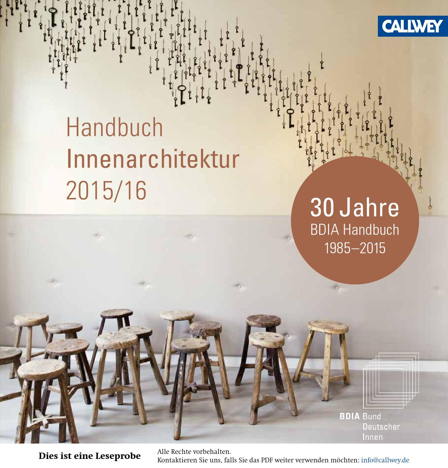 bdia handbuch innenarchitektur 2015 16 by georg d w callwey gmbh co kg issuu. Black Bedroom Furniture Sets. Home Design Ideas