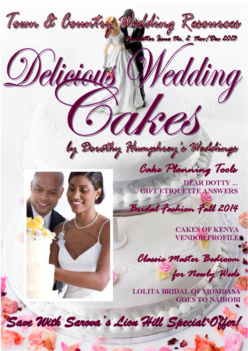 wedding cake vendors in kenya town amp country wedding resources by dorothy humphrey s 26763