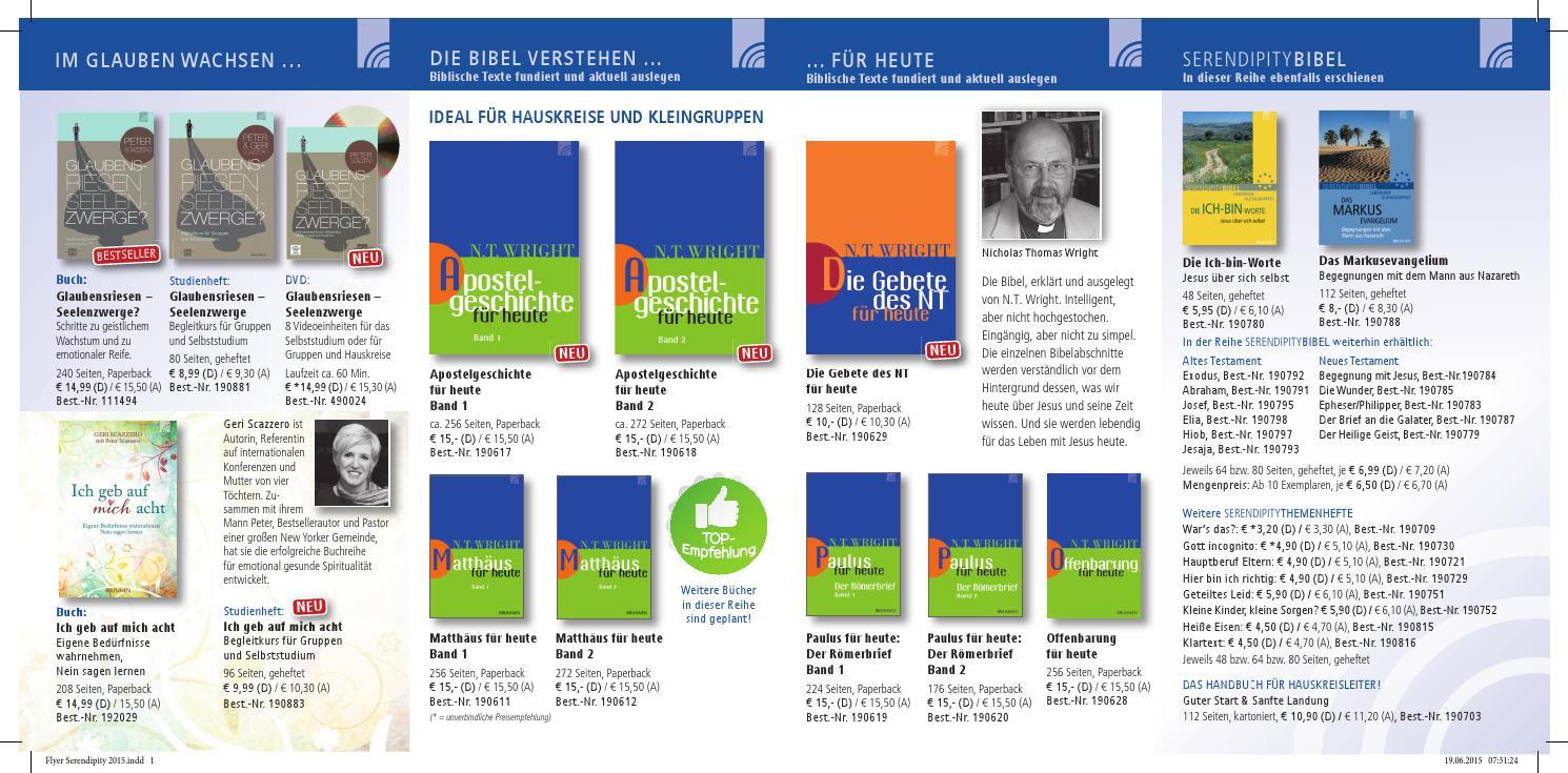 Flyer Serendipity 2015 By Brunnen Verlag Gießen Issuu