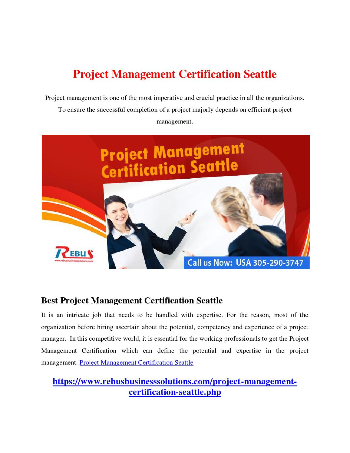 Project Management Certification Seattle By Madhavima Issuu