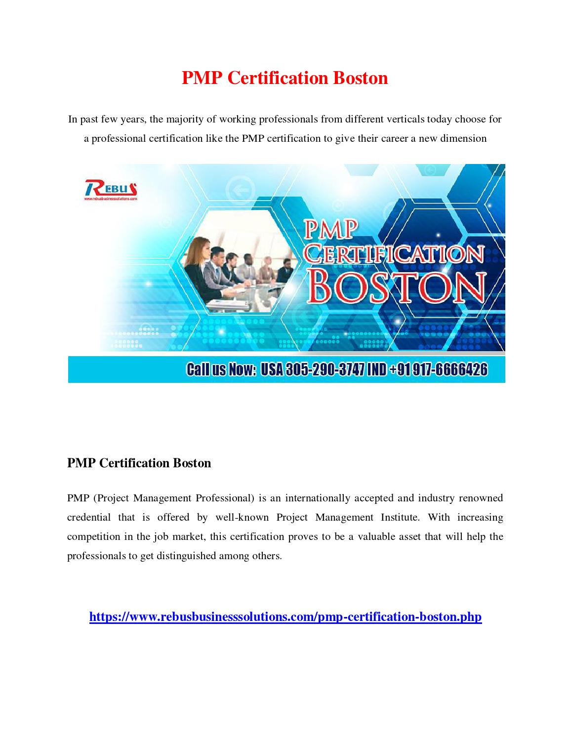 Pmp Certification Boston By Vinitha Issuu