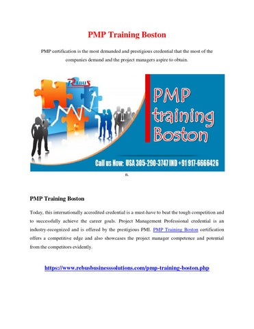 Pmp training boston by vinitha - issuu