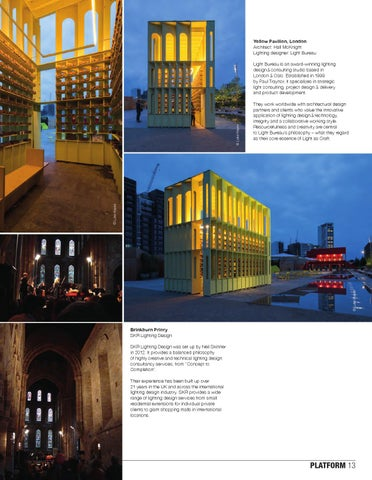 Yellow Pavilion London Architect Hall McKnight Lighting designer Light Bureau & Luminous 17 - Advanced Lighting Design by Luminous u2013 International ...