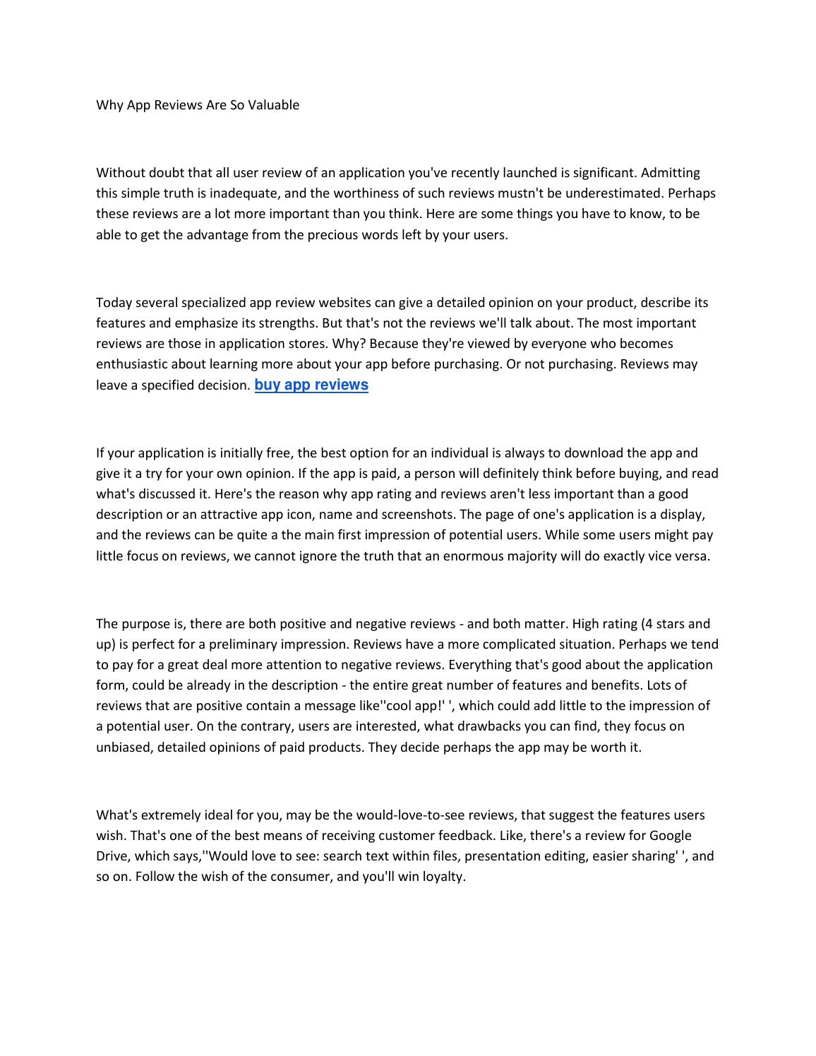 Buy app reviews by HayesMichael - issuu