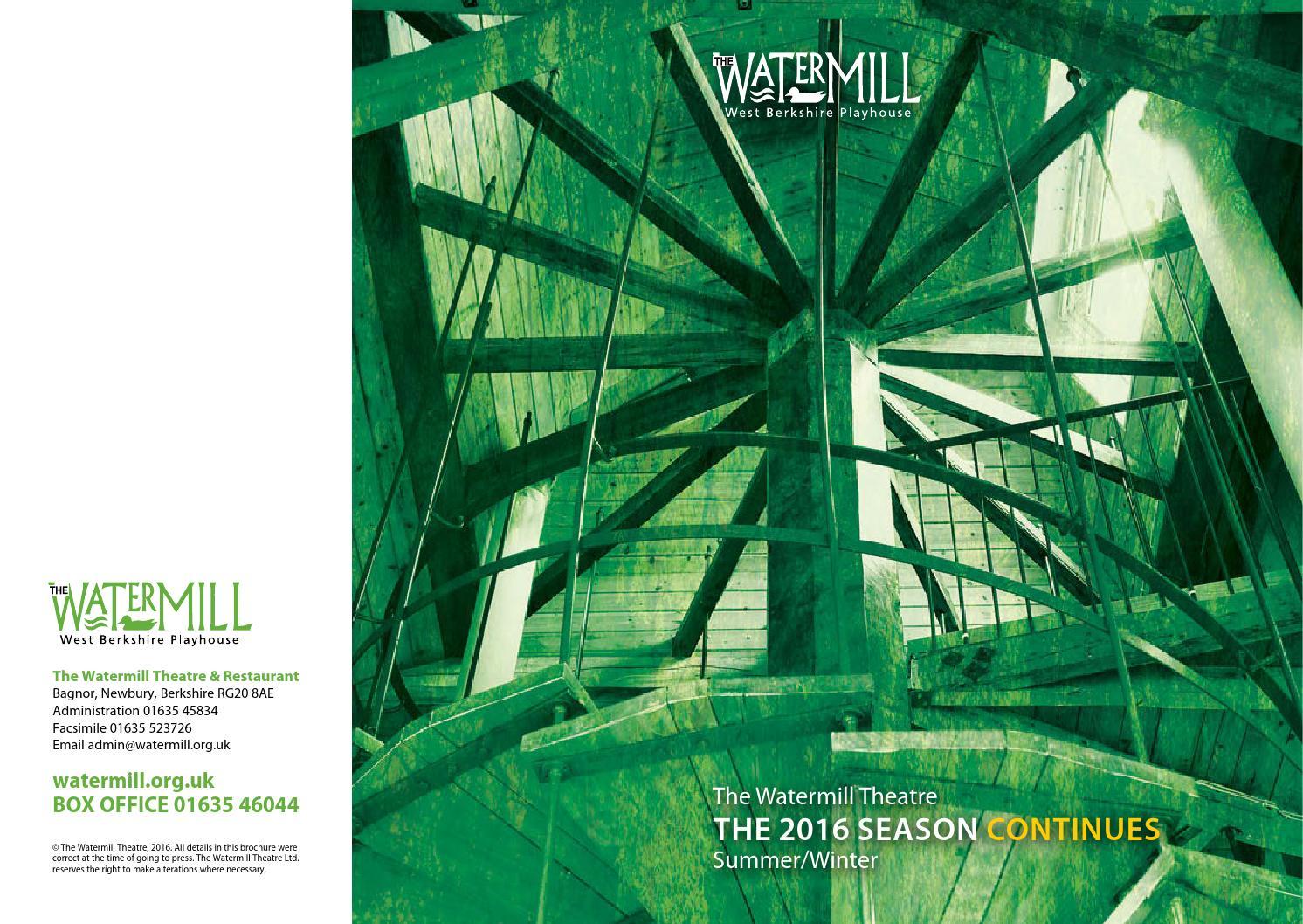 Spring/Summer Season Brochure 2016 by Octagon Theatre