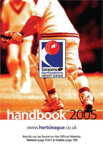 2ba05d661 Herts League Handbook 2005 by Michael Wood - issuu