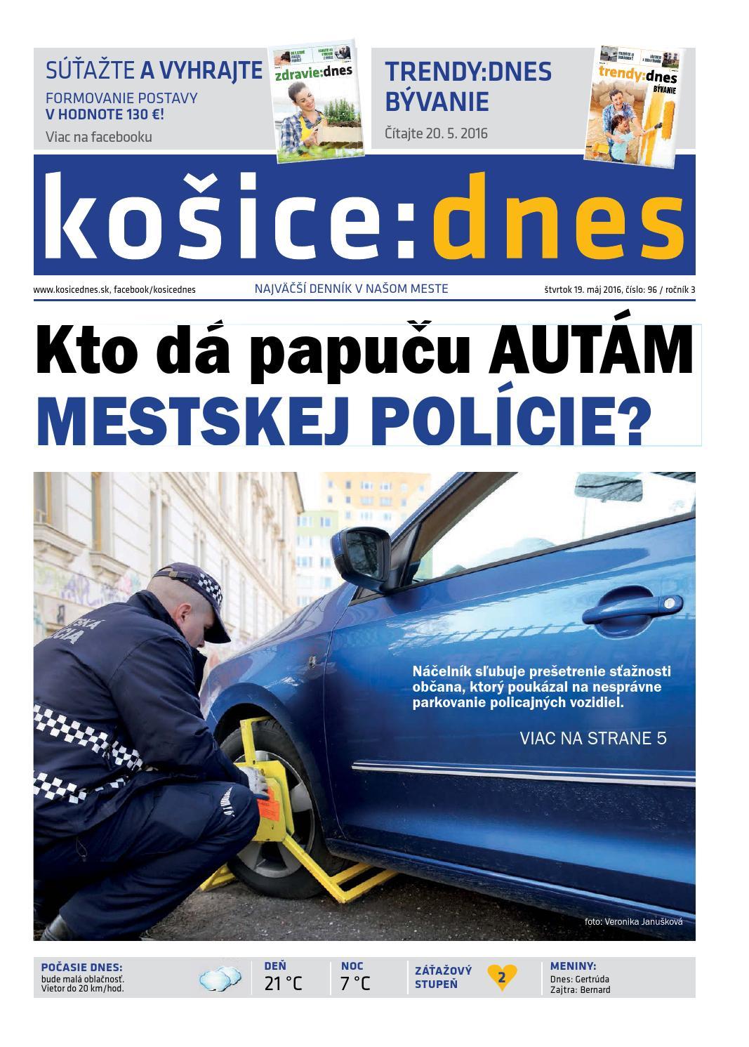 košice dnes 19.5.2016 by KOŠICE DNES - issuu cf2076866ea