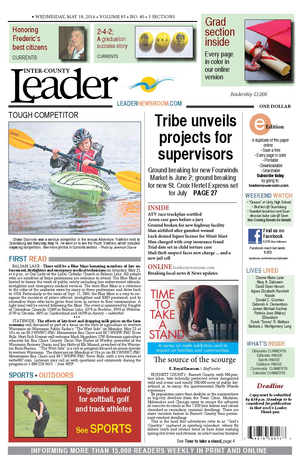 b34f8e12 Leader | May 18 | 2016 by Inter-County Leader - issuu