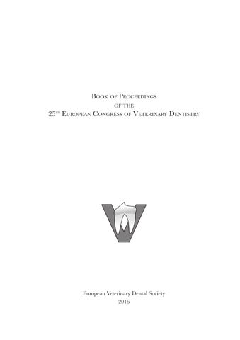 Book of Proceedings of the 25th euroPean congress of Veterinary ...