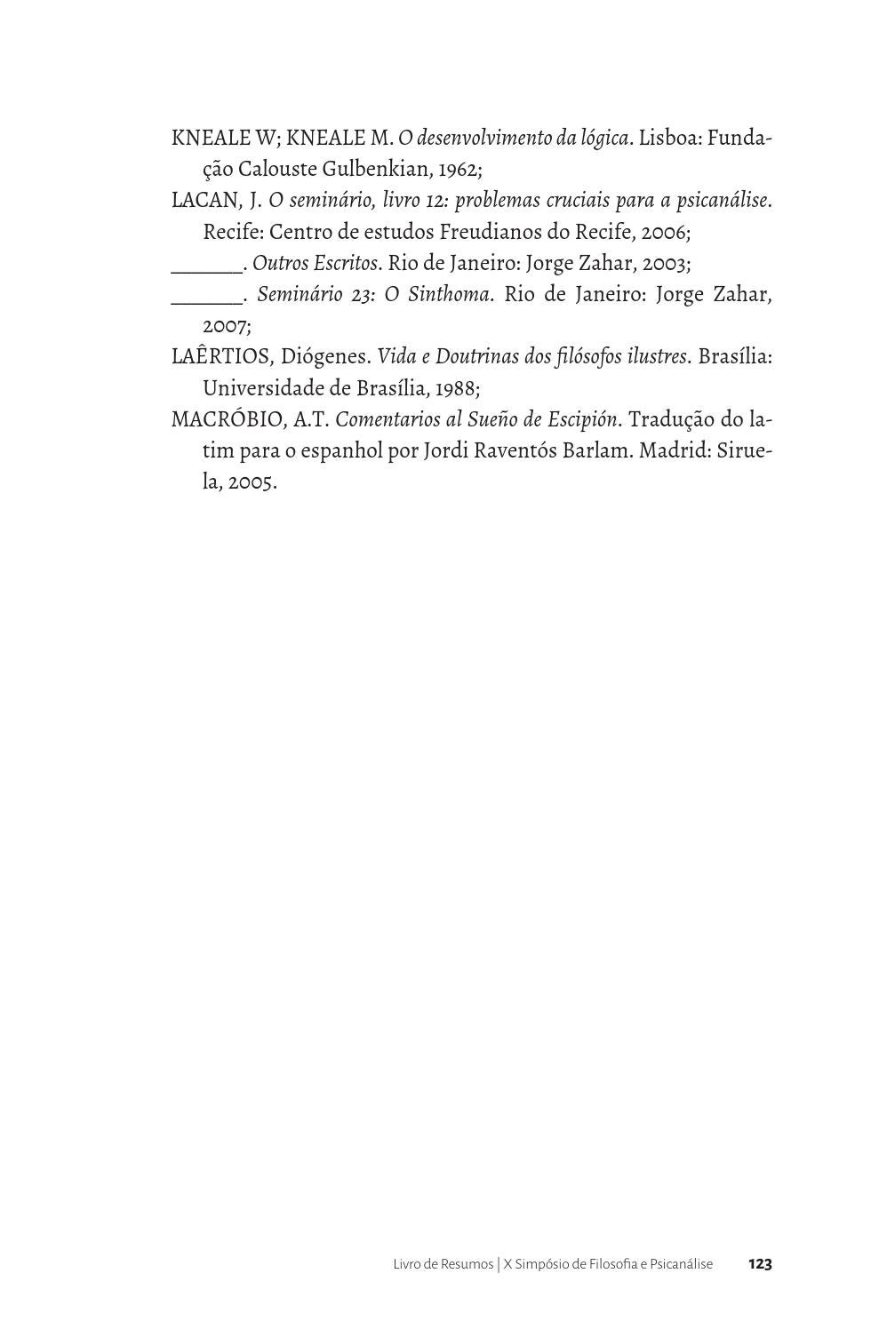 Livro de resumos - VI Congresso Internacional de Filosofia