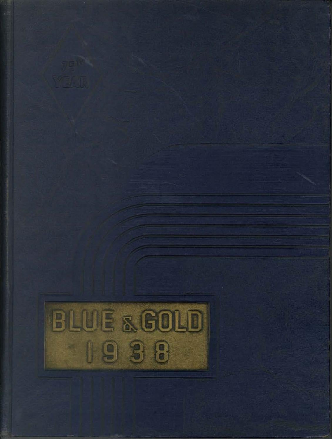 1938 Blue and Gold Yearbook by