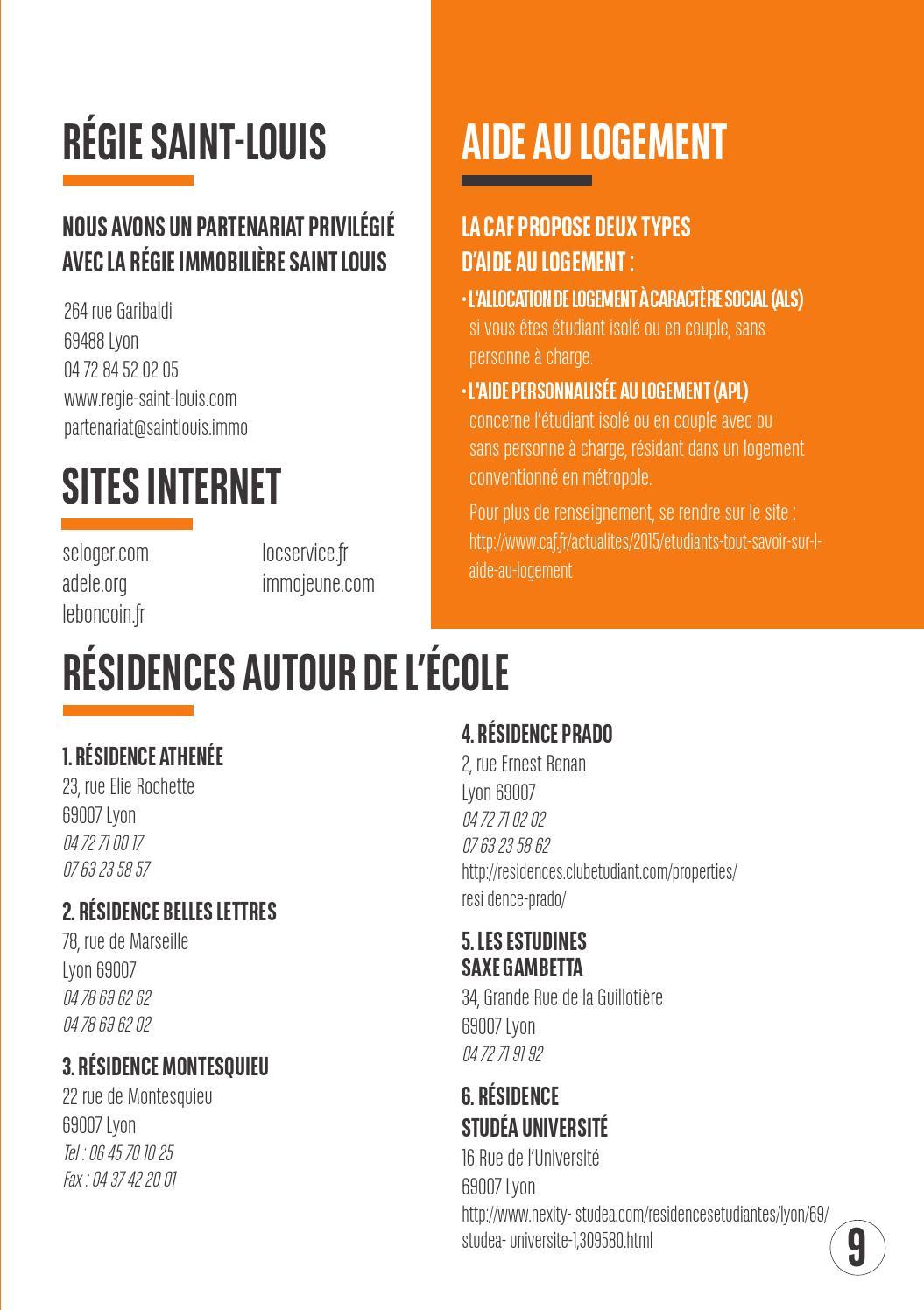 Guide De Pr Rentre Sup De Pub Lyon By O ET D
