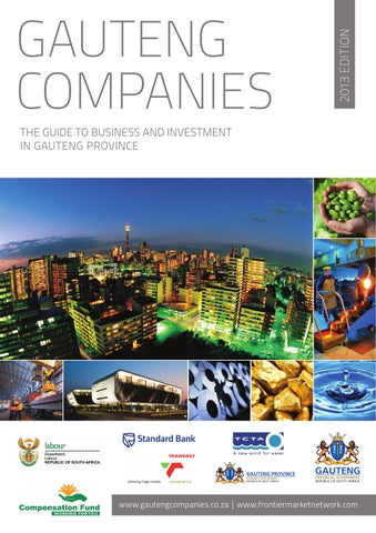 Gauteng Companies 2013 by Global Africa Network - issuu