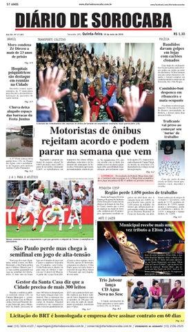 Edição de 19 de maio de 2016 by DIÁRIO DE SOROCABA - issuu 5db583c45ffe2