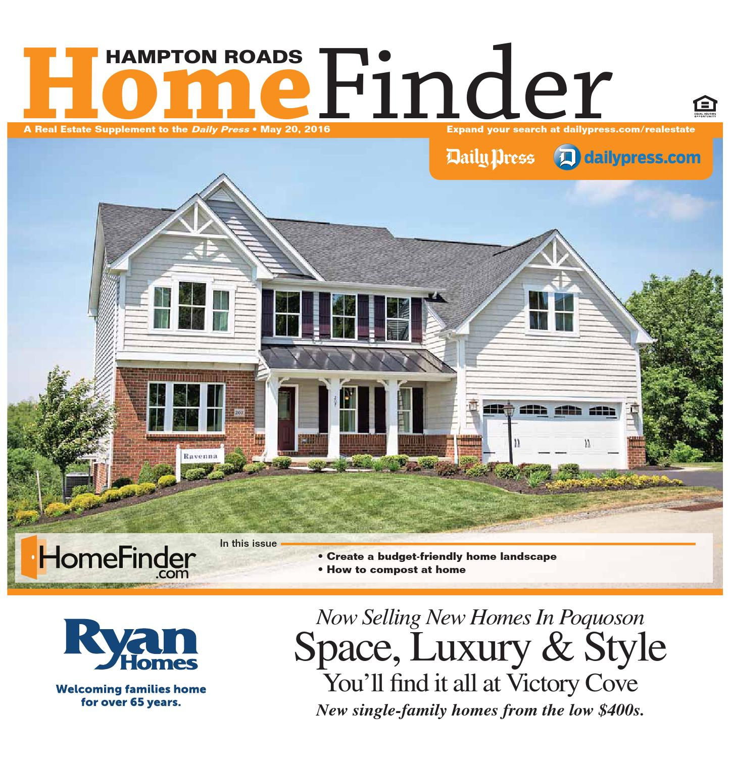 Home Finder For Rent: May 20, 2016 By Daily Press Media Group