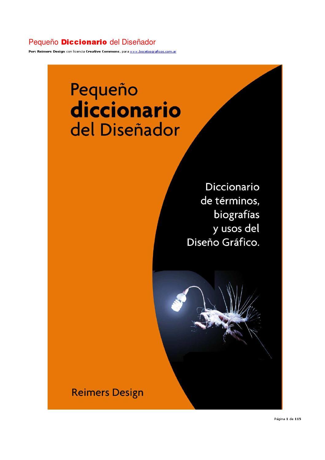 Pequeño diccionario del diseñador by Marcelo Sarmiento - issuu