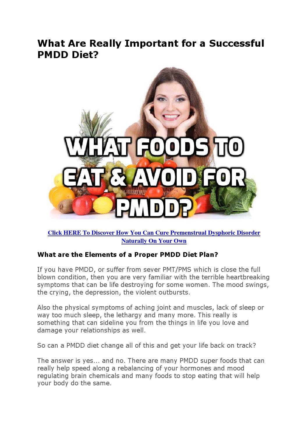 high fat diet for pmdd