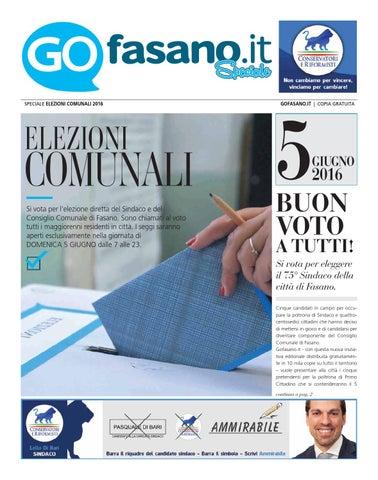 Gofasanoit Speciale Elezioni Comunali 2016 Fasano By Gofasano