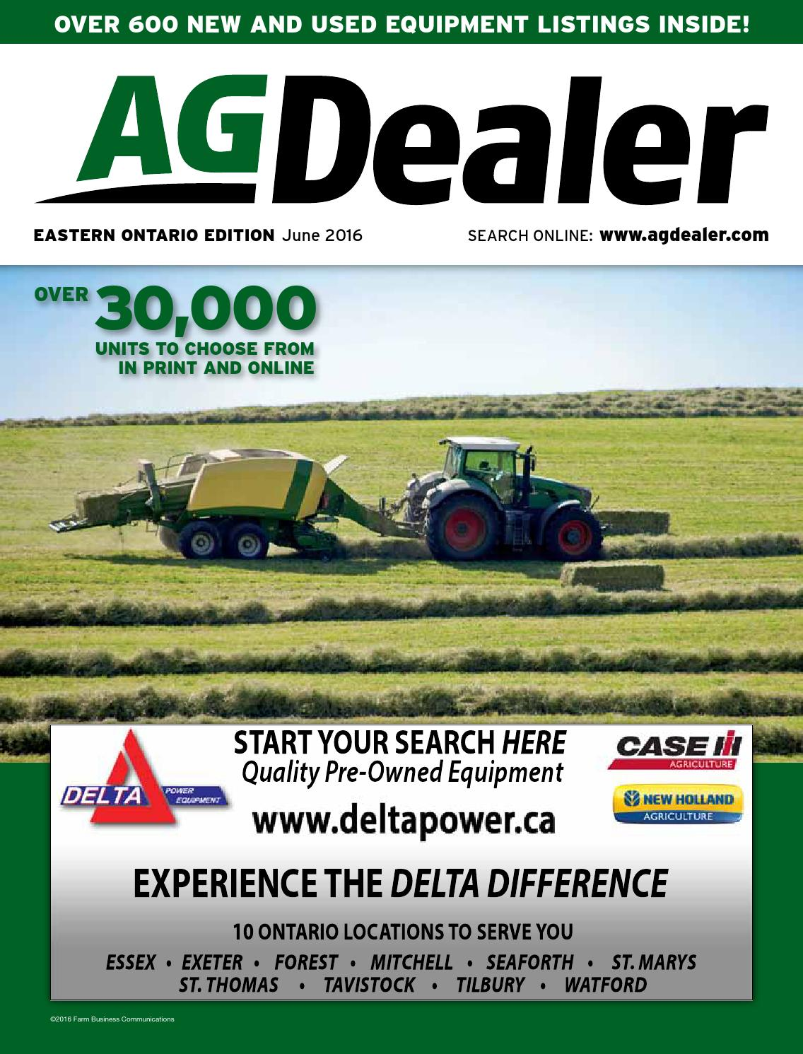 AGDealer Eastern Ontario Edition, June 2016 by Farm Business Communications  - issuu