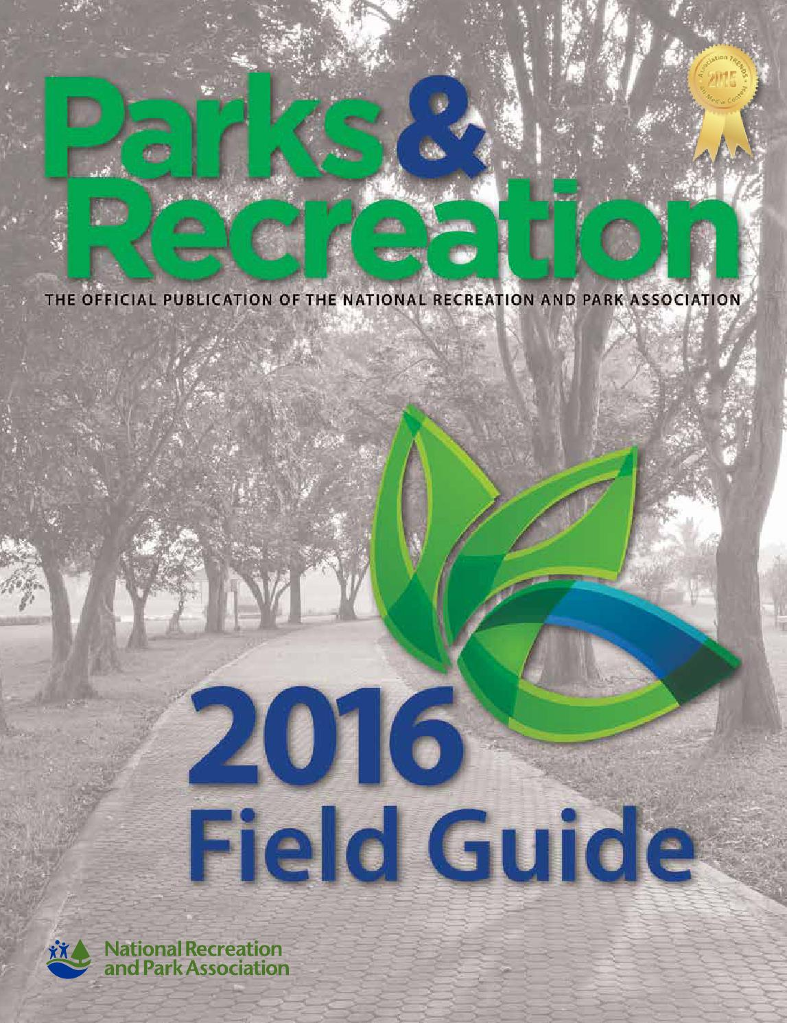 Parks & Recreation - 2016 Field Guide by Creative By Design