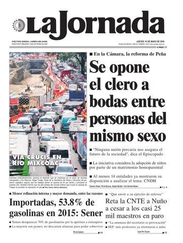 JUEVES 19 DE MAYO DE 2016 CIUDAD DE MÉXICO • AÑO 32 • NÚMERO 11423 •  www.jornada.unam.mx 5fe581ebb447e