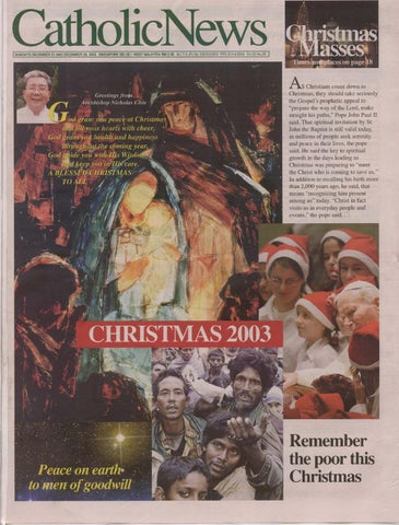 DECEMBER 21, 2003, vol 53, no 26 by CatholicNews - issuu