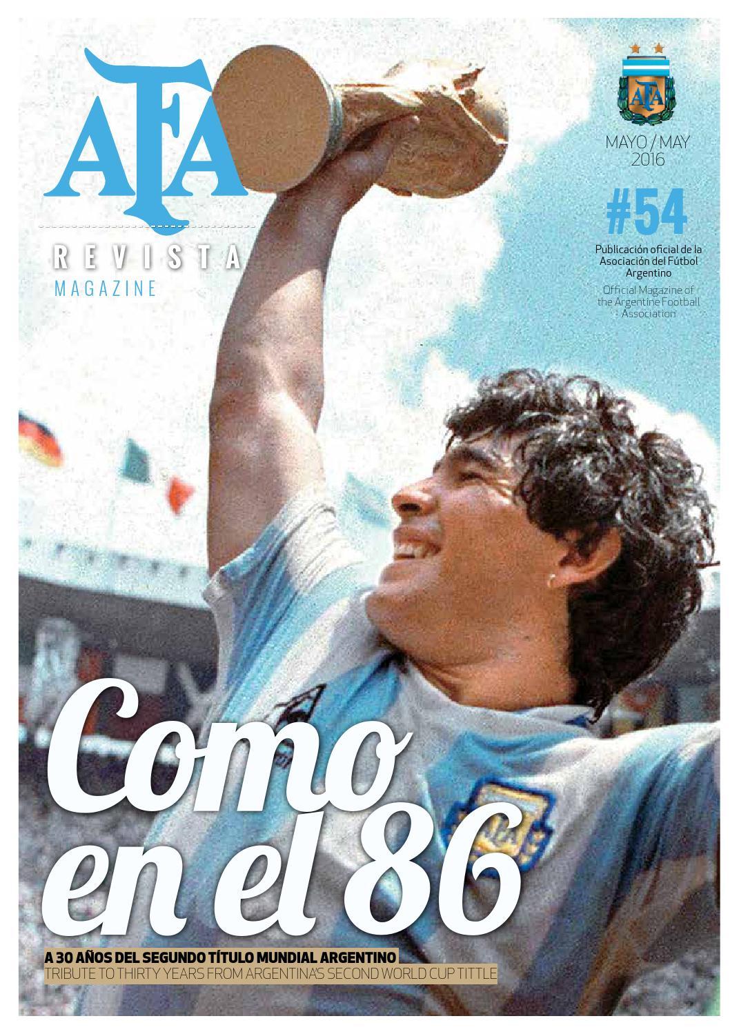 Afa revista 54 by afa asociaci n del f tbol argentino for Revistas del espectaculo argentino