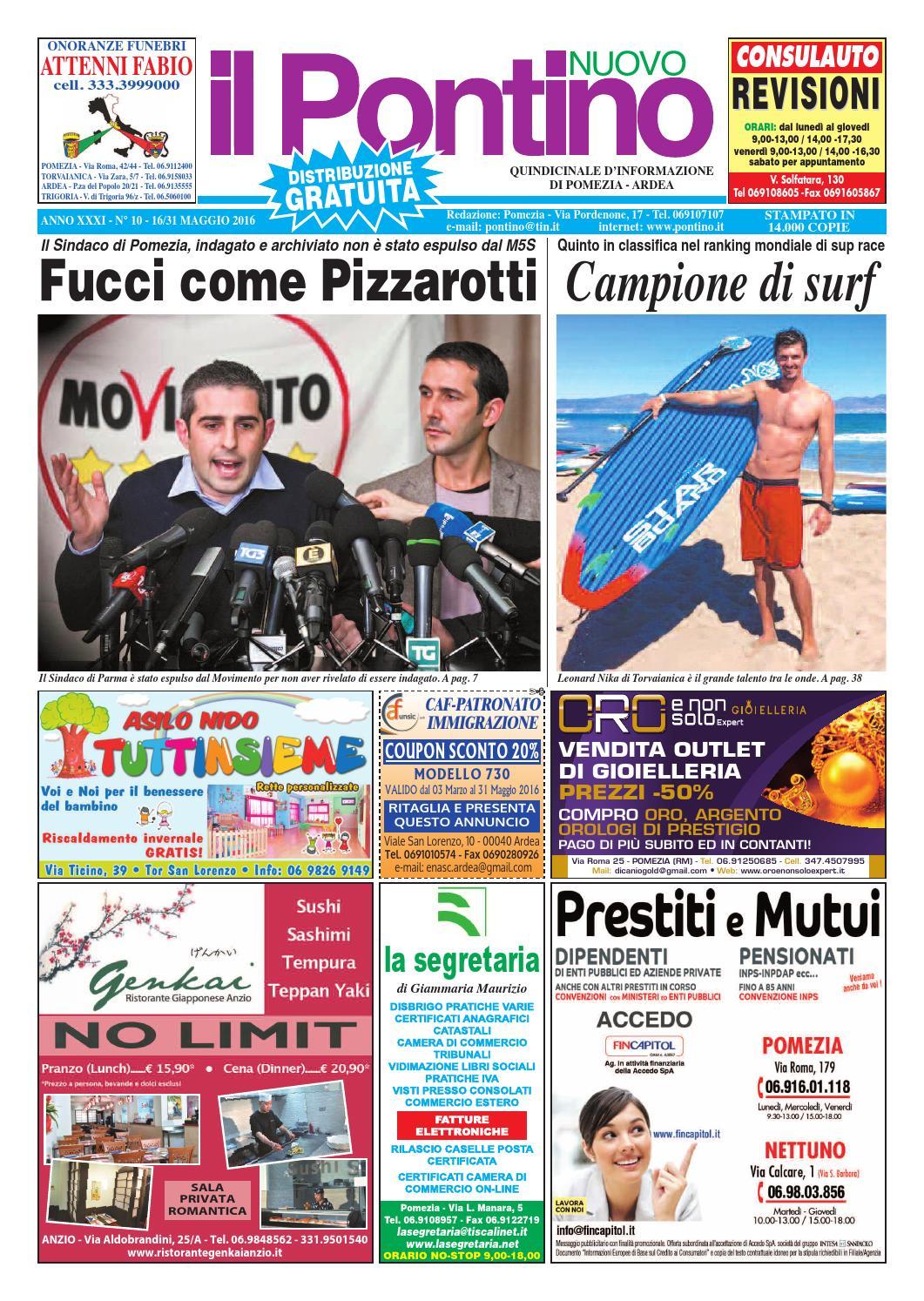 Il Pontino Nuovo - Anno XXXI - N. 10 - 16 31 Maggio 2016 by Il Pontino Il  Litorale - issuu 99c096826f3c
