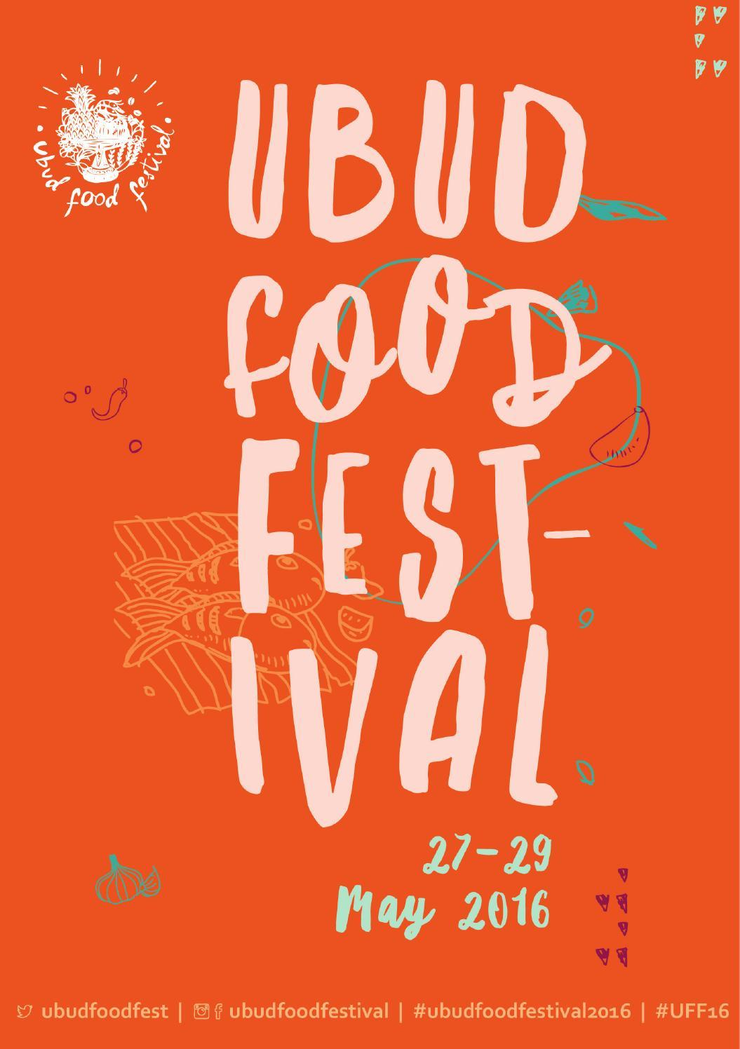 2016 Ubud Food Festival Program Book By Yayasan Mudra Swari