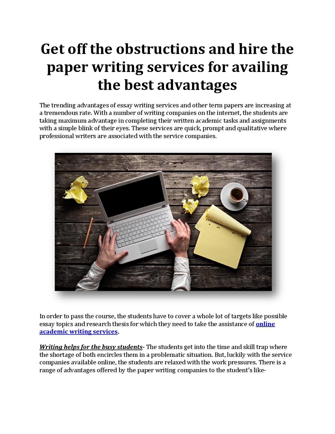 get off the obstructions and hire the paper writing services for  get off the obstructions and hire the paper writing services for availing the best advantages by papers stock issuu