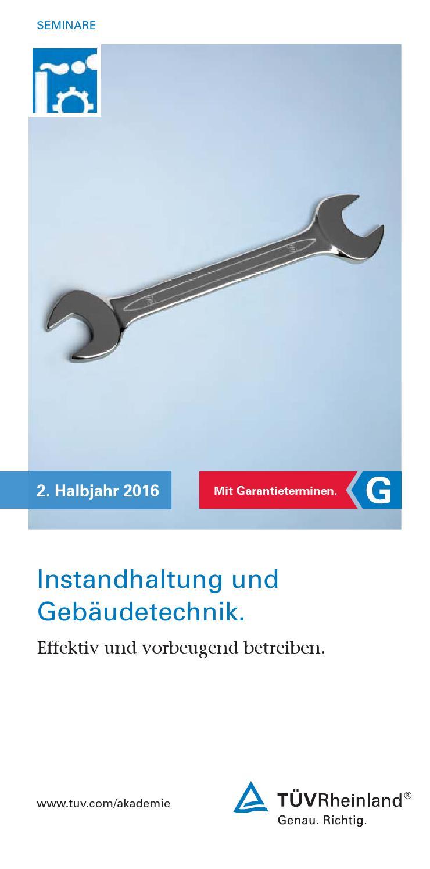 Seminare_Instandhaltung_2_2016 by tuev.rheinland.akademie - issuu