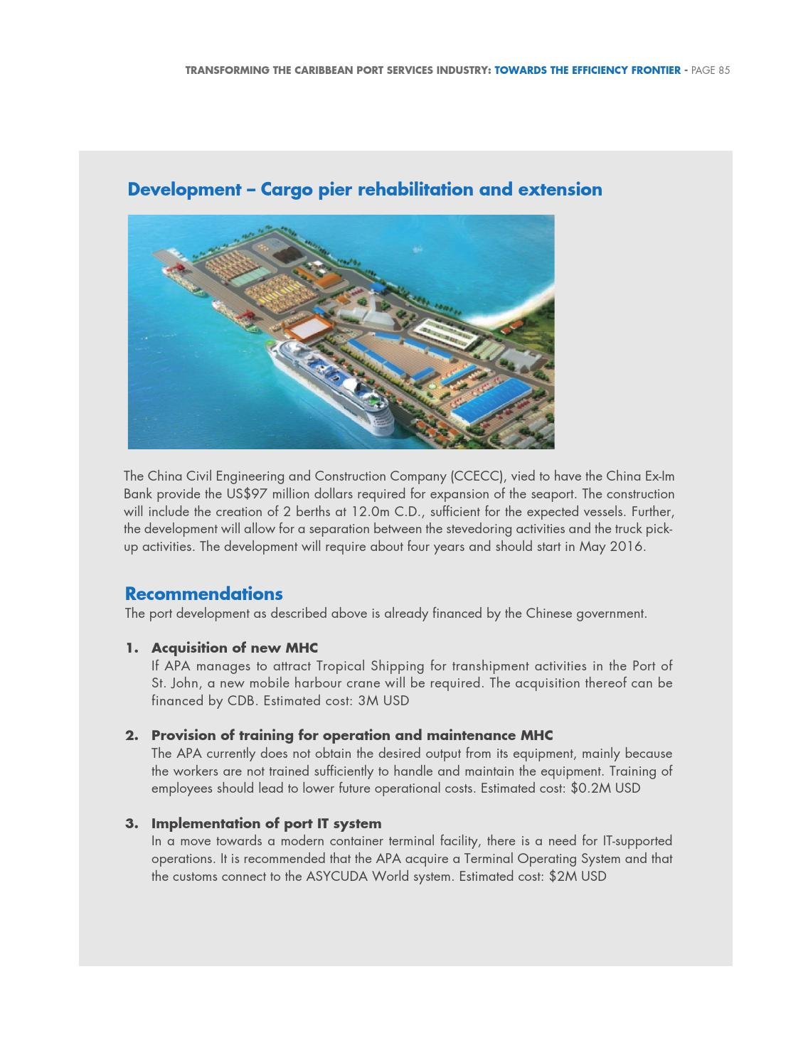Transforming the Caribbean Port Services Industry: Towards