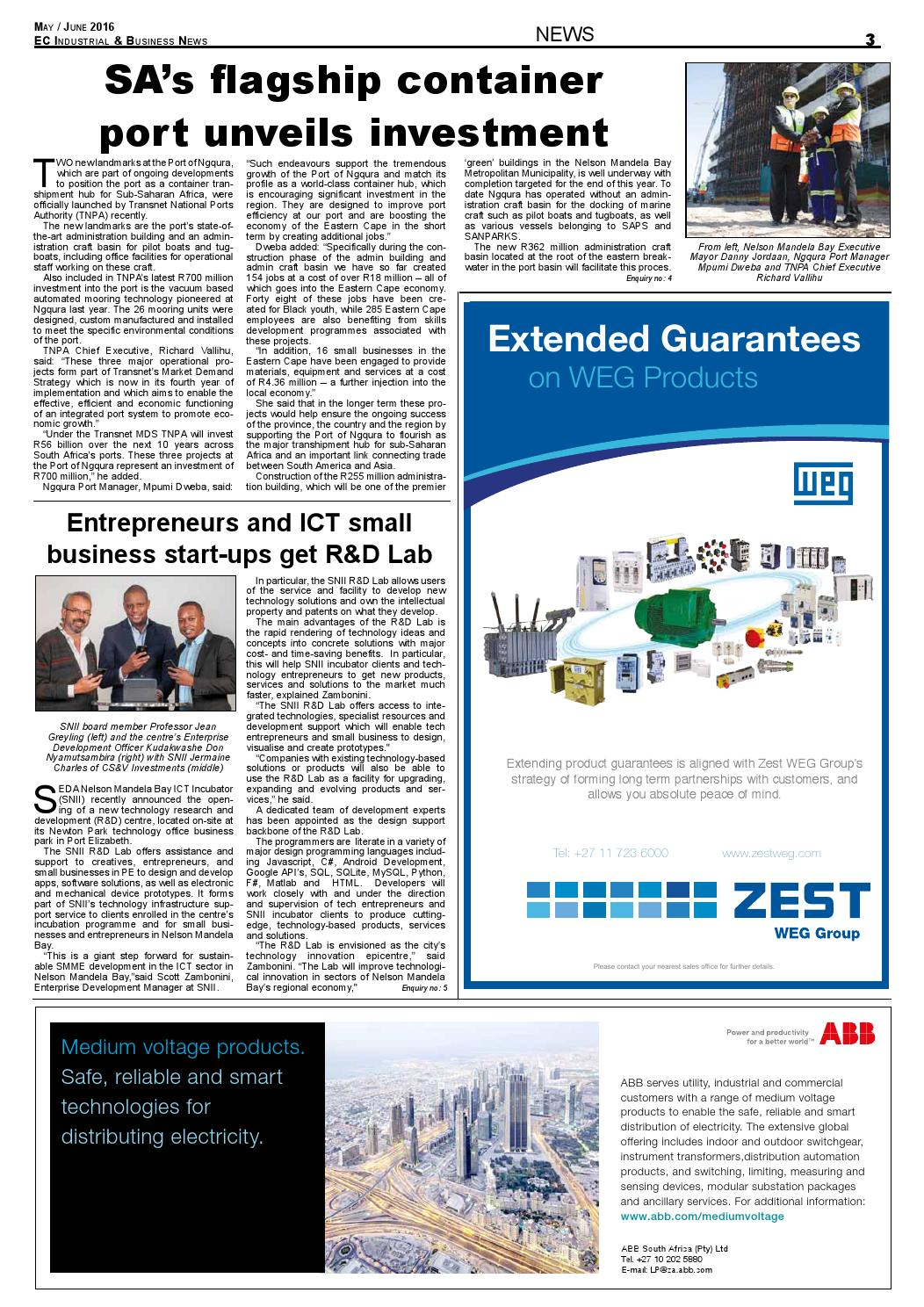 Ec industrial & business news issue 73 by The Media & Events