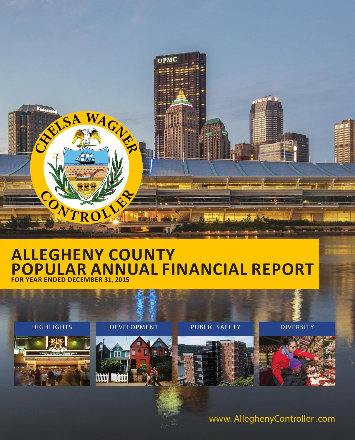 Allegheny County 2015 Popular Annual Financial Report by Chelsa ...