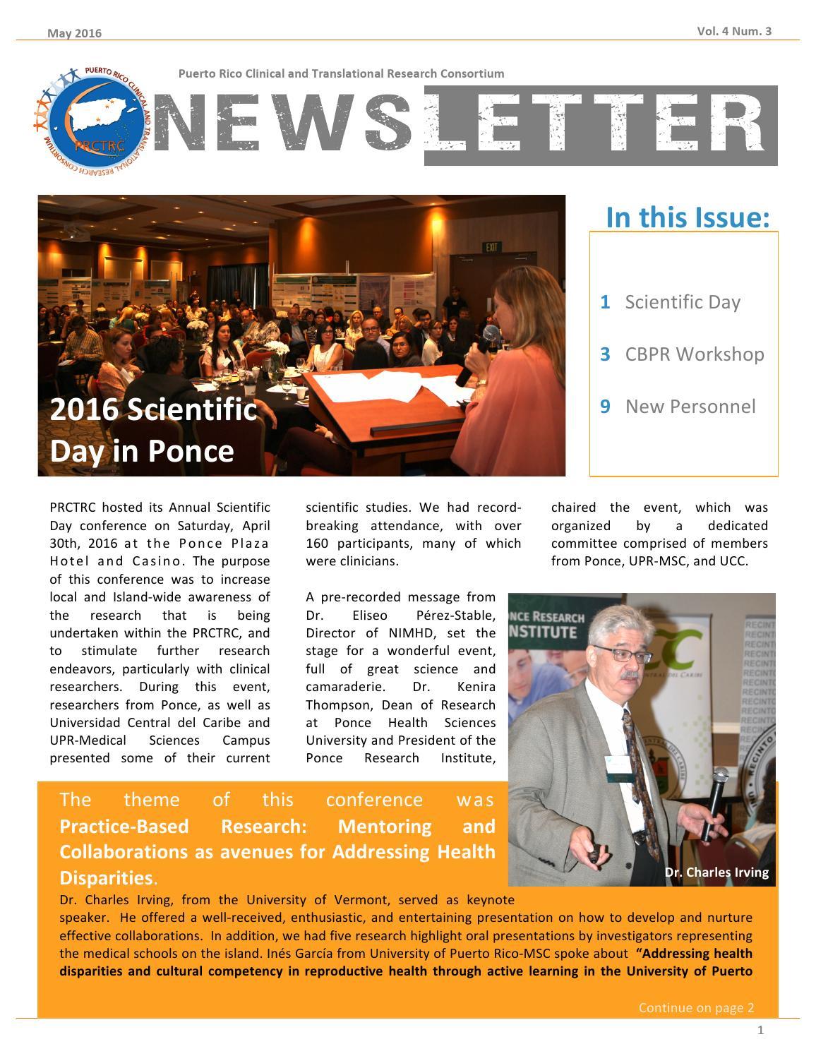 Prctrc Newsletter 4 3 By Prctrc Rcm Issuu