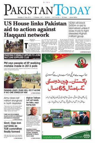 E paper pdf (21 5 2016) lhr by Pakistan Today - issuu