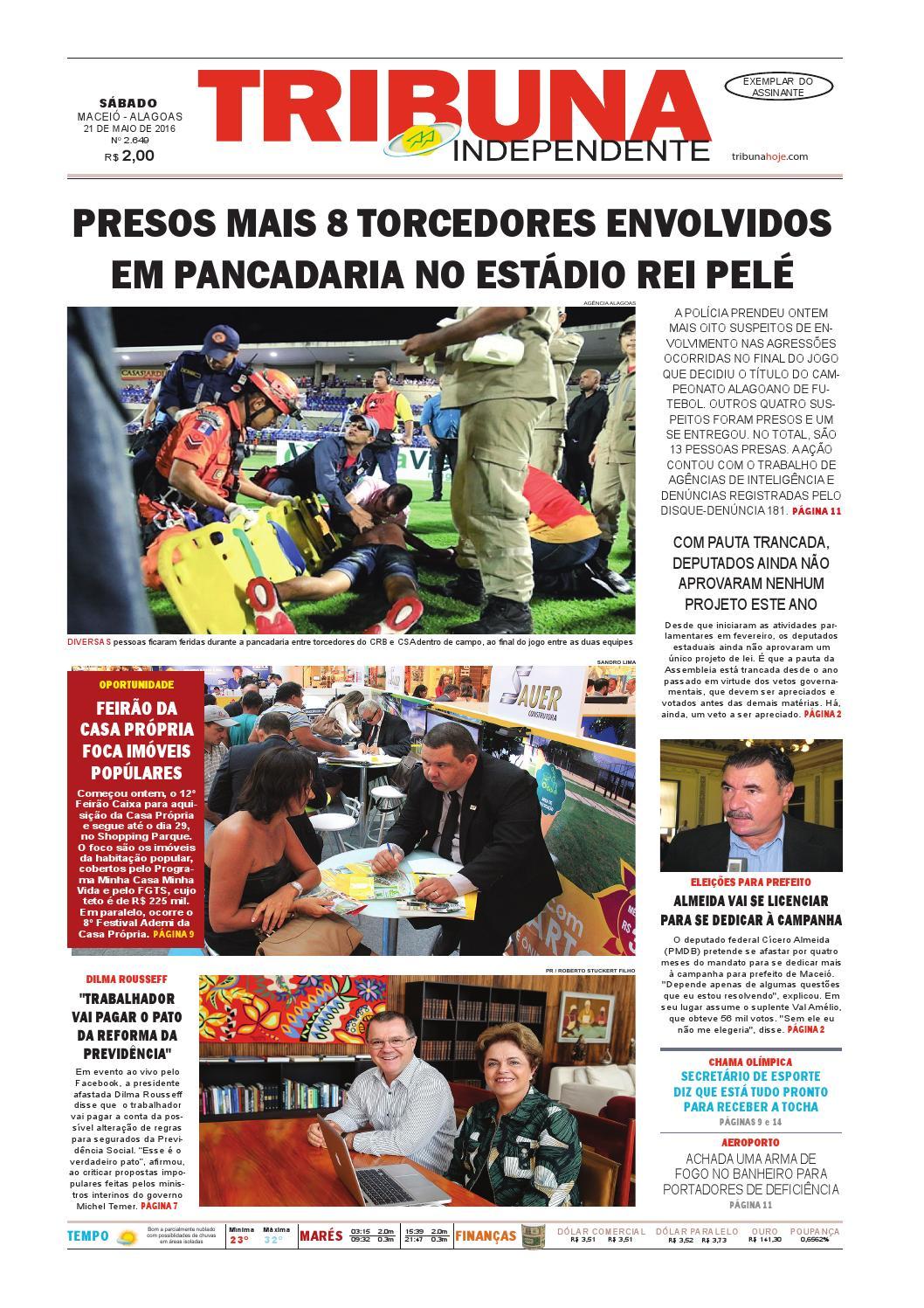 7e054e59448 Edição número 2649 - 21 de maio de 2016 by Tribuna Hoje - issuu