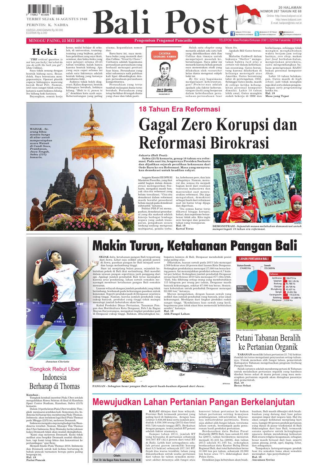 Edisi 22 Mei 2016 Balipost Com By E Paper Kmb Issuu